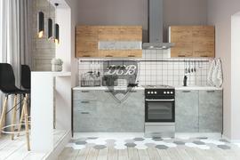 Кухня Дуся 2,0м дуб бунратти - цемент