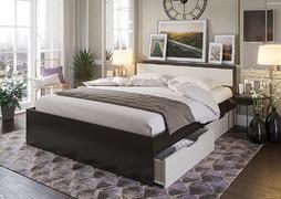 Кровать с ящиками Гармония 1,2 КР-606 венге - дуб белфорт