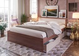 Кровать с ящиками Гармония 0,8 КР-607 шимо темный - шимо светлый