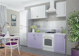 Кухня Гранд 1,5м белый - фиалка