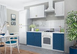 Кухня Гранд 1,5м белый - синий