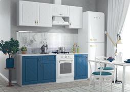 Кухня Гранд 2,1м белый - синий