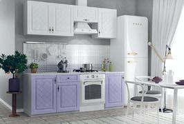 Кухня Гранд 2,1м белый - фиалка