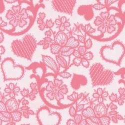 Кресло детское KD-2 розовый сердца