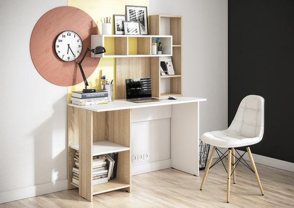 Компьютерный стол Олимп дуб сонома - белый
