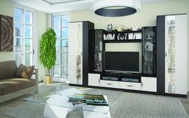 Модульная гостиная Марта-15 венге - дуб белфорт комплект-4