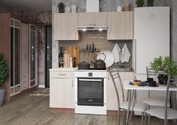 Кухня Татьяна 1,6м ясень темный - ясень светлый
