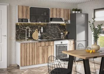 Кухня Зара 2,1м белый - дуб сакраменто