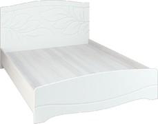 Кровать Флора КР-160 анкор светлый - белый софт