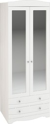 Шкаф 2-х створчатый Флора ШК-2 анкор светлый - белый софт