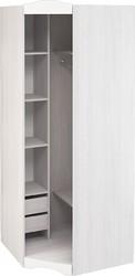 Шкаф угловой Флора ШКУ анкор светлый - белый софт