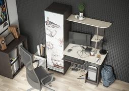 Стол компьютерный с фотопечатью КС-001 венге