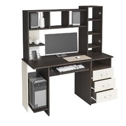 Стол компьютерный КС-002 венге - дуб беленый