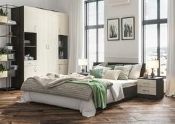 Модульная спальня Ронда венге - дуб беленый комплект-3