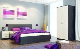 Модульная спальня Ронда венге - дуб беленый комплект-4