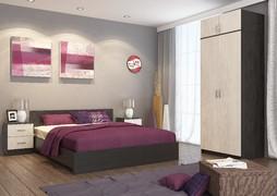 Модульная спальня Ронда венге - дуб беленый комплект-5