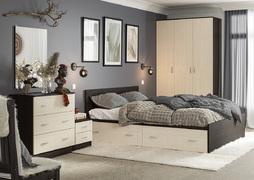 Модульная спальня Ронда венге - дуб беленый комплект-2