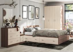 Модульная спальня Ронда ясень темный - ясень светлый комплект-1