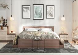 Модульная спальня Ронда ясень темный - ясень светлый комплект-2