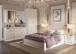 Модульная спальня Венеция белый - жемчуг комплект-1