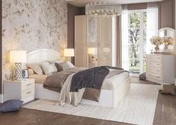Модульная спальня Венеция белый - жемчуг комплект-2