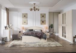 Модульная спальня Венеция белый - жемчуг комплект-3