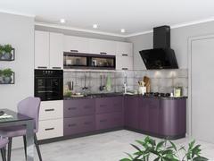 Кухня Контемп слоновая кость - индиго