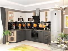 Кухня Контемп слоновая кость - графит