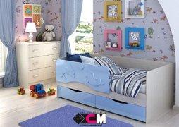 Кровать Алиса КР-812 1600 белфорт - голубой