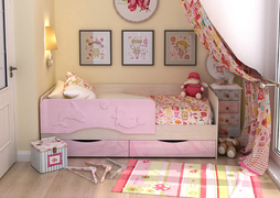 Кровать детская Алиса КР-812 1600 белфорт - розовый