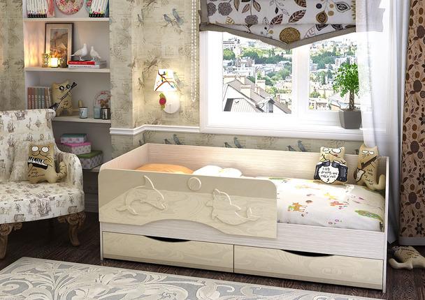 Кровать детская Алиса КР-813 1800 белфорт - ваниль