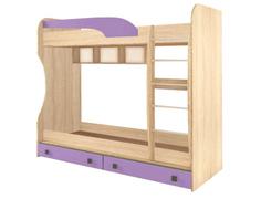 Кровать 2 ярусная Колибри дуб сонома - виола