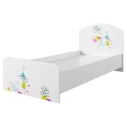 Кровать КРД 900.1 Радуга белый глянец с фотопечатью - белый