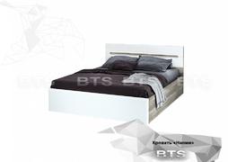 Кровать Наоми КР-11 дуб каньон - белый глянец