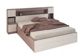 Кровать с прикроватным блоком Бася КР 552 шимо темный - шимо светлый