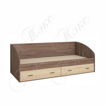 Кровать с ящиками Орион ясень шимо - дуб сонома