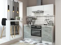 Кухня Дуся 1,6м цемент - белый