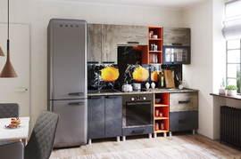 Кухня 2м Крафт дуб эндгрейн - бетон темный