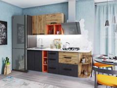 Кухня 2м Крафт дуб вотан - бетон темный