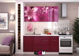 Кухня с фотопечатью Лилии 1,6 м