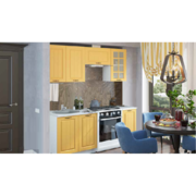 Модульная кухня серии Мария МДФ желтый