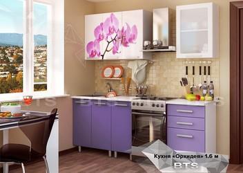 Кухня Орхидея 1,6м фотопечать