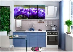 Кухня с фотопечатью Подснежники 1,8м