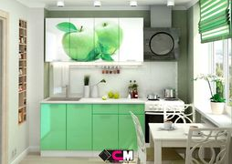 Кухня с фотопечатью Яблоко 1,8м