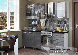 Кухня Лондон 1,6м столешница черный мрамор