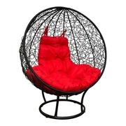 Кресло Круглое стоячее с ротангом черное