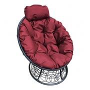 Кресло Папасан-мини с ротангом черное