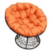 Кресло Папасан с ротангом черное