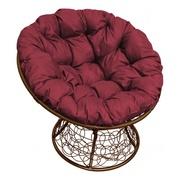 Кресло Папасан с ротангом коричневое