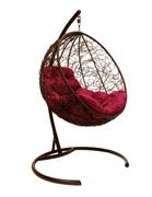 Подвесное кресло Круглое с ротангом коричневое